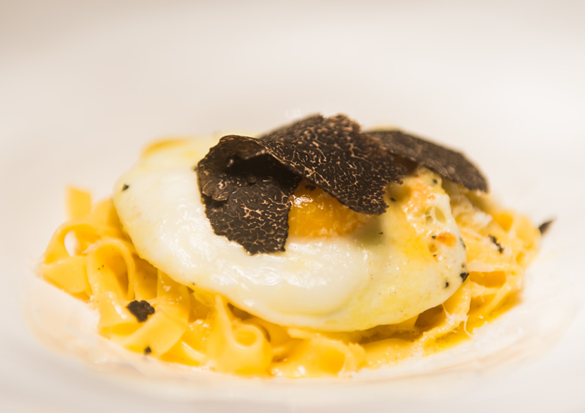 Blog Hand Cut Tagliatelle Truffled Fried Egg Fresh Shaved Tasmanian Truffles Grana