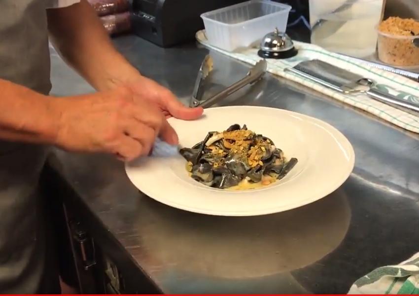 Blog Fazzoletti Squid Ink Pasta Dish